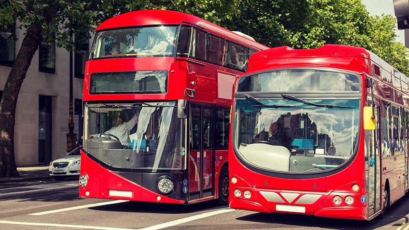 Two london buses