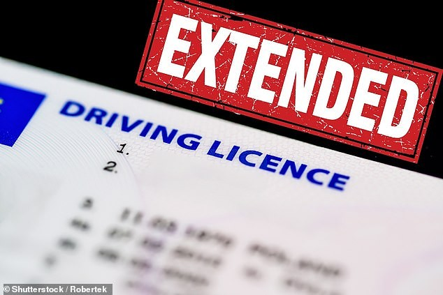 Driving licence extended