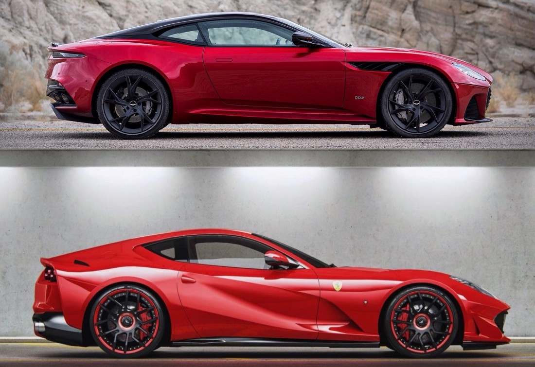 aston martin dbs superleggera vs ferrari 812 superfast - redrose cars