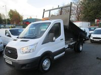 2014 FORD TRANSIT NEW SHAPE MODEL TIPPER  TWIN REAR WHEELS TURBO DIESEL  SIX SPEED  ONLY 19,000 MILES  FORD REMAIN DEALER WARRANTY 2017 £15500.00