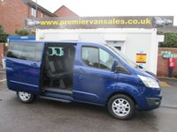 2015 FORD TOURNEO CUSTOM * CHOICE OF 2 * 2.2 300 LIMITED EDITION  TITANIUM  TDCI  125 BHP  EIGHT SEAT MINIBUS   METALLIC IMPACT BLUE   £15500.00