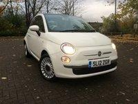 2012 FIAT 500 1.2 LOUNGE 3d 69 BHP £4985.00