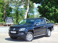 USED 2012 62 VOLKSWAGEN AMAROK 2.0 DBL CAB TDI HIGHLINE 4MOTION  FULL LEATHER (BLACK), HEATED, CRUISE CONTROL, SIDE STEPS