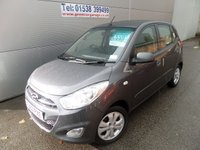 2013 HYUNDAI I10 1.2 ACTIVE 5 DOOR ONLY 11700 MILES AIR CON, ALLOYS USB £5695.00