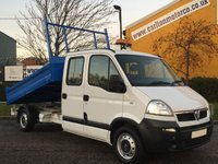 2010 VAUXHALL MOVANO Movano 2.5Dci Lwb D/Cab Tipper [ Low Mileage 10,157 ]  £9950.00