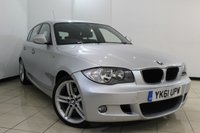 USED 2011 61 BMW 1 SERIES 2.0 118D M SPORT 5DR 141 BHP SERVICE HISTORY + MULTI FUNCTION WHEEL + M SPORT PACKAGE + START/STOP FUNCTION + PARKING SENSORS + ALLOY WHEELS