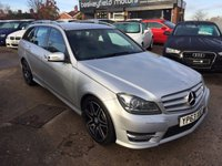 2013 MERCEDES-BENZ C CLASS 2.1 C220 CDI BLUEEFFICIENCY AMG SPORT PLUS 5d AUTO 168 BHP £13990.00