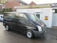 2012 FORD TRANSIT PANTHER BLACK SIX SEAT CREW VAN   SHORT WHEEL   BASE LOW ROOF  TREND 2.2 TURBO DIESEL SIX SPEED AIR CON CRUISE  REAR CAMERA TOW BAR FULL FORD HISTORY   ONE COMPANY OWNER F.S.H  £7995.00
