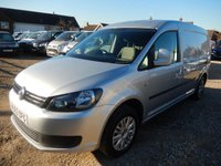 2013 VOLKSWAGEN CADDY MAXI 1.6 C20 TDI TRENDLINE 102 BHP WITH REAR TAILGATE 72702 MILES £7995.00