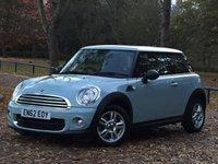 2013 MINI HATCH ONE 1.6 ONE D 3d 90 BHP £7995.00