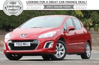2012 PEUGEOT 308 1.6 HDi Active 5dr £5281.00
