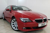 USED 2009 09 BMW 6 SERIES 3.0 635D SPORT 2DR AUTOMATIC 282 BHP FULL SERVICE HISTORY + SAT NAV + BLUETOOTH + CLIMATE CONTROL + CRUISE CONTROL + PARKING SENSORS