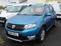 2014 DACIA SANDERO STEPWAY 0.9 STEPWAY AMBIANCE TCE 5d 90 BHP ONLY 13000 MILES £5995.00