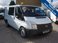 USED 2012 62 FORD TRANSIT 100T 280 2.2TDCi FACTORY CREW VAN ONE COMPANY OWNER