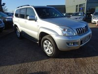 USED 2007 07 TOYOTA LAND CRUISER 3.0 INVINCIBLE D-4D 8STR 5d AUTO 202 BHP 1 OWNER FROM NEW,7 SEATS, LEATHER ELECTRIC TRIM, TOYOTA SERVICE HISTORY    CRUISE CONTROL, 7 SEATS, FULL GREY LEATHER TRIM  - 1 OWNER FROM NEW ,7 SEATS ,FULL GREY LEATHER TRIM,CRUISE CONTROL,AIR CON,SUNROOF, TOYOTA SERVICE HISTORY, with contrasting grey leather trim, 7 seats, electric glass sunroof, heated seats, 4 wheel drive lock, high and low range, DAC hill descent, cruise control, 4 spoke leather steering wheel, wood pack to dash and door inserts, locking wheel nuts, radio stereo CD player,