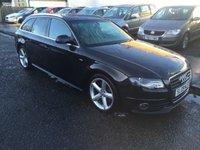 2009 AUDI A4 2.0 AVANT TDI S LINE DPF 5d 141 BHP £9500.00