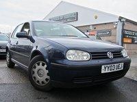 2003 VOLKSWAGEN GOLF 1.6 SE 5d 103 BHP £980.00