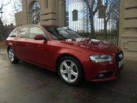 2012 AUDI A4 2.0 AVANT TDIE SE TECHNIK 5d 161 BHP £13495.00
