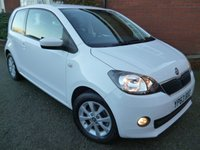 USED 2013 63 SKODA CITIGO 1.0 ELEGANCE GREENTECH 3d 59 BHP Sat Nav & Bluetooth Included