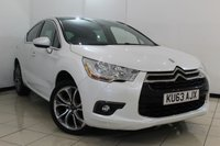 USED 2013 63 CITROEN DS4 1.6 E-HDI DSTYLE AIRDREAM 5d AUTO 115 BHP FULL SERVICE HISTORY + MULTI FUNCTION WHEEL + CRUISE CONTROL + CLIMATE CONTROL + BLUETOOTH + ALLOY WHEELS