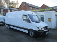 2014 MERCEDES-BENZ SPRINTER 2.1 313 CDI, NEW SHAPE MODEL  LONG WHEEL BASE  53,000 MILES  EX LEASE  SERVICE PRINT OUT, CRUISE, BLUETOOTH, ELECTRIC WINDOWS,   REMAIN MERC WARRANTY 2017   £12850.00