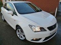 2013 SEAT IBIZA 1.4 TOCA 3d 85 BHP Sat nav & Bluetooth Included £6485.00