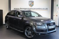 USED 2014 63 AUDI Q7 3.0 TDI QUATTRO S LINE PLUS 5DR AUTO 245 BHP + FULL AUDI SERVICE HISTORY + 1 OWNER FROM NEW + SATELLITE NAVIGATION + FULL BLACK LEATHER INTERIOR + HEATED SPORT SEATS + PANORAMIC SUNROOF + 7 SEATS + BLUETOOTH + CRUISE CONTROL + SLINE SPORT PACKAGE + REVERSE CAMERA + SELF CLOSING BOOT + 21 INCH ALLOY WHEELS