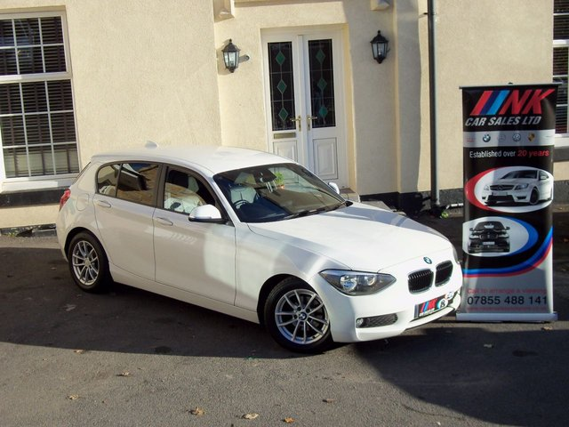2012 62 BMW 1 SERIES 1.6 116D EFFICIENTDYNAMICS 5d 114 BHP FBMWSH FULL LEATHERS  RESERVED SOLD TO JAHANGIR ZAFAR FROM LEICESTER