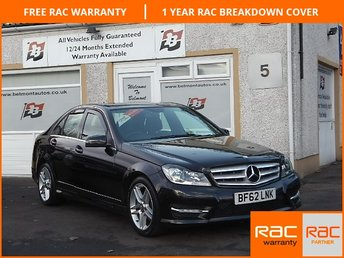 2012 MERCEDES-BENZ C CLASS 2.1 C220 CDI BLUEEFFICIENCY AMG SPORT 4d 168 BHP £14000.00