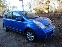 2008 NISSAN NOTE 1.4 ACENTA S 5d 88 BHP £3650.00