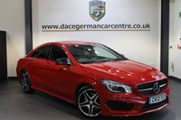 USED 2013 13 MERCEDES-BENZ CLA 2.1 CLA220 CDI AMG SPORT 4DR AUTO 170 BHP + FULL MERCEDES SERVICE HISTORY + FULL BLACK/RED LEATHER INTERIOR + SATELLITE NAVIGATION + HEATED SPORT SEATS + BLUETOOTH + XENON LIGHTS + CRUISE CONTROL + REAR TINTED WINDOWS + PARKING SENSORS + 18 INCH ALLOY WHEELS +