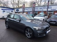 2012 BMW 1 SERIES 2.0 118D SPORT 5d 141 BHP £11495.00