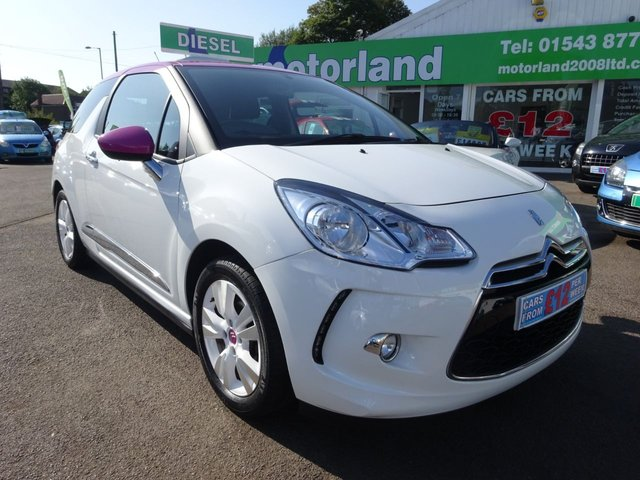 USED 2014 14 CITROEN DS3 1.6 E-HDI AIRDREAM DSTYLE PINK 3d 90 BHP DS3 1.6 DIESEL  AIRDREAM...LOW TAX AND LOW MILEAGE