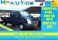 USED 2012 12 FORD TRANSIT 2.2 350 LWB DRW DROPSIDE 99 BHP LOW MILEAGE | JUST 1 OWNER | CREW CAB | TOOL STORE