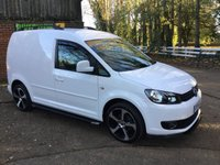 USED 2014 14 VOLKSWAGEN CADDY 1.6 C20 TDI STARTLINE 1d 102 BHP Fully Colour Coded in, Candy White, New 18 inch Alloys and Tyres, Carbon Front Splitter