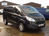 2014 FORD TRANSIT CUSTOM 2.2TDCi  270 SWB LIMITED Low Roof 125 BHP BLACK £13495.00