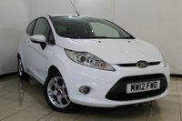 USED 2012 12 FORD FIESTA 1.2 ZETEC 3DR 81 BHP FULL SERVICE HISTORY + BLUETOOTH + AIR CONDITIONING + MULTI FUNCTION WHEEL + ALLOY WHEELS