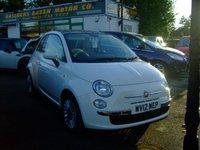 2012 FIAT 500 1.2 LOUNGE DUALOGIC 3d AUTO 69 BHP £6499.00