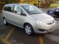 2008 VAUXHALL ZAFIRA 1.6 EXCLUSIV 5d 105 BHP £3895.00