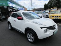 USED 2013 63 NISSAN JUKE 1.5 VISIA DCI 5d 110 BHP 12 MONTHS MOT...6 MONTHS WARRANTY..JUST ARRIVED