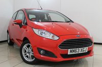 USED 2014 63 FORD FIESTA 1.0 ZETEC 3DR 99 BHP FULL SERVICE HISTORY + BLUETOOTH + AIR CONDITIONING + RADIO/CD + ALLOY WHEELS