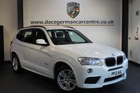 USED 2012 12 BMW X3 2.0 XDRIVE20D M SPORT 5DR AUTO 181 BHP + FULL BMW SERVICE HISTORY + FULL BLACK LEATHER INTERIOR + PRO SATELLITE NAVIGATION + BLUETOOTH + HEATED SPORT SEATS + CRUISE CONTROL + M SPORT PACKAGE + REVERSE CAMERA + PARKING SENSORS + 18 INCH ALLOY WHEELS +