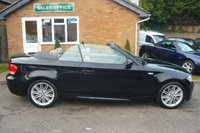 USED 2008 08 BMW 1 SERIES 2.0 120I M SPORT 2d AUTO 168 BHP STUNNING BLACK AND TAN LEATHER