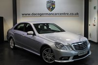 USED 2010 59 MERCEDES-BENZ E CLASS 2.1 E250 CDI BLUEEFFICIENCY SPORT 4DR 204 BHP + HALF BLACK LEATHER INTERIOR + BLUETOOTH + HEATED SEATS + CRUISE CONTROL + PARKING SENSORS + 18 INCH ALLOY WHEELS +