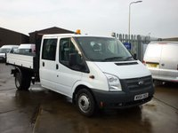 2014 FORD TRANSIT 2.2TDCi 350 Double Cab Tipper 125 BHP £12495.00