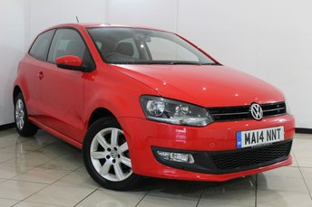 2014 VOLKSWAGEN POLO 1.2 MATCH EDITION 3DR 59 BHP £7470.00