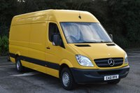 USED 2011 61 MERCEDES-BENZ SPRINTER 2.1 313 CDI  5d 129 BHP RWD LWB HIGH ROOF DIESEL MANUAL VAN  ONE OWNER,FSH,MOT EXPIRES 07/10/2017,AIR CON
