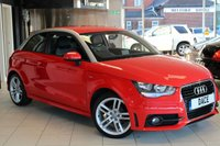 USED 2011 60 AUDI A1 1.2 TFSI S LINE 3d 84 BHP AUDI SERVICE HISTORY + HALF LEATHER + BLUETOOTH + 17 INCH ALLOYS + SPORT CHASSIS + £30 A YEAR ROAD TAX