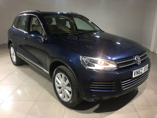 View our 2012 62 VOLKSWAGEN TOUAREG 3.0 V6 SE TDI BLUEMOTION TECHNOLOGY 5d AUTO 242 BHP