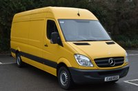 USED 2011 61 MERCEDES-BENZ SPRINTER 2.1 313 CDI  5d 129 BHP LWB HIGH ROOF DIESEL MANUAL VAN  ONE OWNER,FSH,MOT EXPIRES 14/10/2017.,AIR CON
